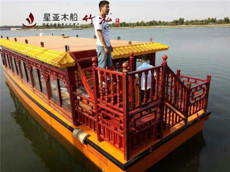 12米电动仿古画舫船